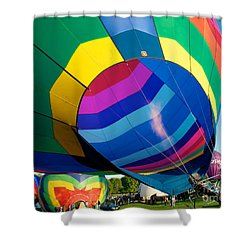 Filler Up Shower Curtain by Mark Dodd