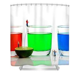 Filling Rgb Lemonade Shower Curtain by Paul Ge