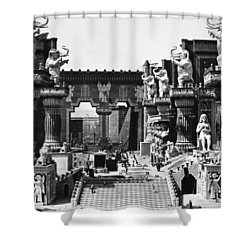 Film Set: Intolerance, 1916 Shower Curtain by Granger