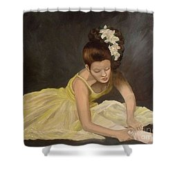 Shower Curtain featuring the painting Final Preparations by Julie Brugh Riffey