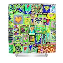 find U'r Love found    v18 Shower Curtain