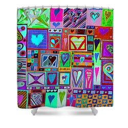 find U'r love found v1 Shower Curtain