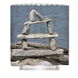 Finding Balance Shower Curtain