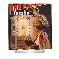 Fine Armagnac Advertisement Shower Curtain by Eugene Oge