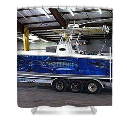 Fine Art Boat Wraps Shower Curtain by Carey Chen