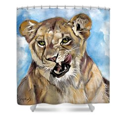 Shower Curtain featuring the painting Finger Lickin Good by Rae Andrews