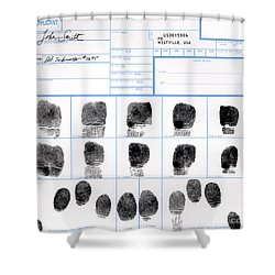 Fingerprint Identification Application Shower Curtain by Science Source