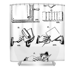 Fingerprinting Instructions, Circa 1900 Shower Curtain by Science Source