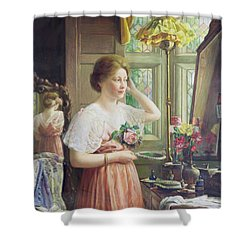 Finishing Touches Shower Curtain by George Wimpenny