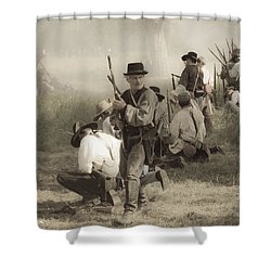 Fire At Will Shower Curtain by Kim Henderson