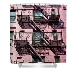Fire Escape Shower Curtain by Axiom Photographic