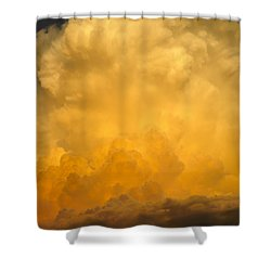 Fire In The Sky Fsp Shower Curtain