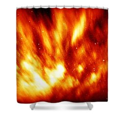 Fire In The Starry Sky Shower Curtain by Paul  Wilford