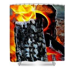 Fire Magic Shower Curtain by Mariola Bitner