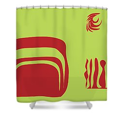 Shower Curtain featuring the digital art Fire Spirit Cave by Kevin McLaughlin