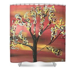 Fire Storm Shower Curtain by Mark Moore
