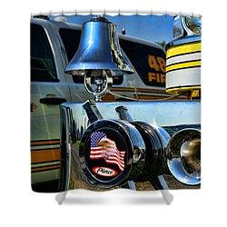 Fire Truck Bell Shower Curtain by Paul Ward