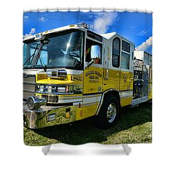 Fireman - Amwell Valley Fire Co. Shower Curtain by Paul Ward