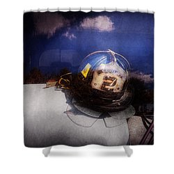 Fireman - Captains Hat Shower Curtain by Mike Savad