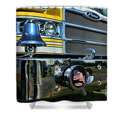 Fireman - Pierce Fire Truck Shower Curtain by Paul Ward