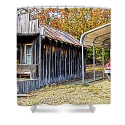Fireman Cottage Shower Curtain by Douglas Barnard