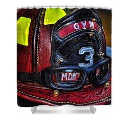 Fireman Helmet Shower Curtain