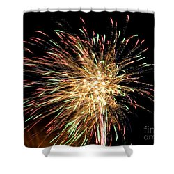 Firework Shower Curtain by Meandering Photography