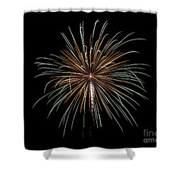 Shower Curtain featuring the photograph Fireworks 10 by Mark Dodd
