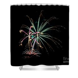 Shower Curtain featuring the photograph Fireworks 11 by Mark Dodd