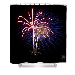 Shower Curtain featuring the photograph Fireworks 12 by Mark Dodd