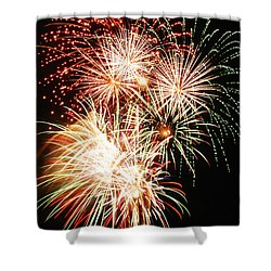 Fireworks 1569 Shower Curtain by Michael Peychich