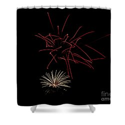 Shower Curtain featuring the photograph Fireworks 6 by Mark Dodd