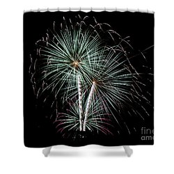 Shower Curtain featuring the photograph Fireworks 8 by Mark Dodd