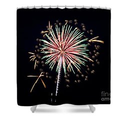 Shower Curtain featuring the photograph Fireworks 9 by Mark Dodd