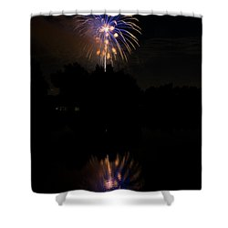Fireworks Reflection Shower Curtain by James BO  Insogna