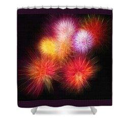 Fireworks Triptych Shower Curtain by Steve Ohlsen