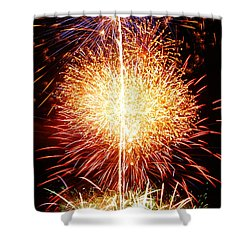 Fireworks_1591 Shower Curtain by Michael Peychich