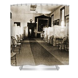 First Aid Hospital Exhibit, 1876 Shower Curtain by Science Source