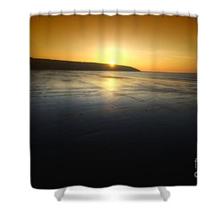 First Blush Shower Curtain by Yhun Suarez