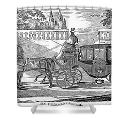 First Lady Carriage, 1851 Shower Curtain by Granger