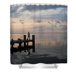 Shower Curtain featuring the photograph First Light by Clara Sue Beym