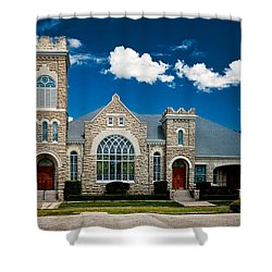 First Presbyterian Church Of Eustis Shower Curtain by Christopher Holmes