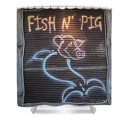Fish N' Pig Shower Curtain
