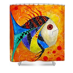 Fish Splatter II Shower Curtain