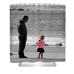 Shower Curtain featuring the photograph Fish With Me Daddy by Terri Waters