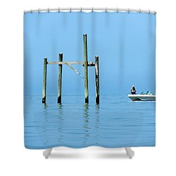 Fishing At The Bird Rack Shower Curtain