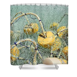 Fishing Nets And Weights Shower Curtain