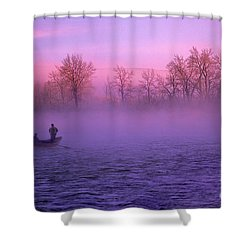 Fishing On The Bow Shower Curtain by Bob Christopher
