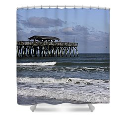 Fishing On The Pier Shower Curtain