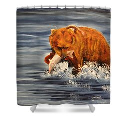 Fishing Shower Curtain by Terry Lewey